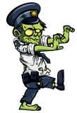 Cartoon zombiw policeman Royalty Free Stock Photography