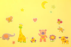 Cartoon zoo. An image of a cartoon zoo on a wall in a kid's room Royalty Free Stock Photography