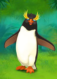 Cartoon zoo - amusement park - illustration for the children stock illustration
