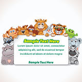 Cartoon Zoo Animal Sign Stock Image