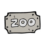 Cartoon zoo sign Royalty Free Stock Photos