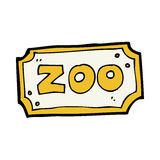 cartoon zoo sign Royalty Free Stock Images