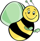Cartoonbee. Cute Cartoon Bee done in illustrator Royalty Free Illustration