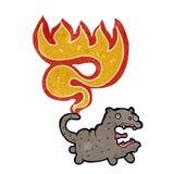 Cartooncat with burning tail Stock Photo