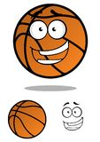 Cartooned与微笑的面孔的篮球球 库存图片