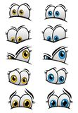 Cartooned-Augen mit verschiedenen Gefühlen Lizenzfreies Stockfoto