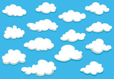 Cartooned clouds background Royalty Free Stock Photos
