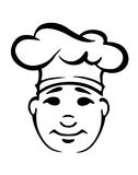 Cartooned cook in a toque Royalty Free Stock Photo