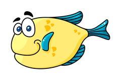 Cartooned het glimlachen vissen met grote ogen stock illustratie