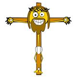 Cartooned Jesus in the cross Royalty Free Stock Photo