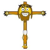 Cartooned Jesus na cruz Foto de Stock Royalty Free