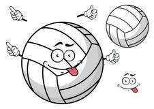 Cartooned siatkówki piłka z śliczną twarzą i rękami ilustracji