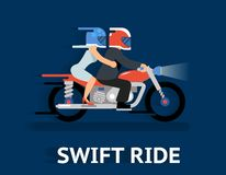 Cartooned Swift Ride Concept Design Royalty Free Stock Photo