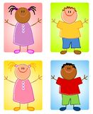 cartoonish παιδιά χαρακτήρων Στοκ φωτογραφία με δικαίωμα ελεύθερης χρήσης