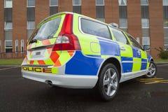 汽车cartoonish图象查出的警察样式白色 图库摄影
