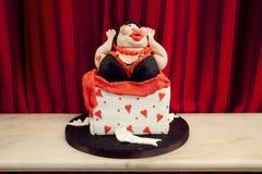Cartoonish cake Stock Images