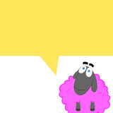 Cartoonish comics with a pink sheep Stock Photo