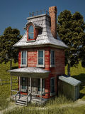 Cartoonish house. Inspired by cartoonish houses from movies or cartoons Royalty Free Stock Photography