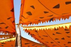 Cartoonish orange awning Royalty Free Stock Photo