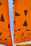 Cartoonish orange awning sunshade Royalty Free Stock Images
