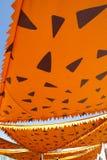 Cartoonish orange awning sunshade decoration Stock Photo