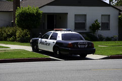 cartoonish samochodowy wizerunek odizolowywał stylowego policja biel Zdjęcie Royalty Free