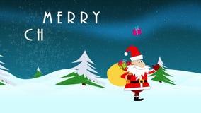 Cartoonish Santa Claus animation stock video