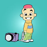Cartoonlyjongen Stock Afbeeldingen