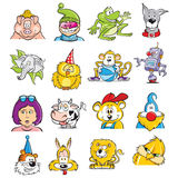 Cartoons. Mix illustrations 2D Colors Royalty Free Stock Photography