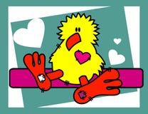 Cartoons animals love. Chicken cartoon animals vector illustration Royalty Free Stock Photography