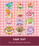 Cartoons cake card Stock Photo