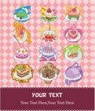 Cartoons cake card. Vector drawing Stock Photo