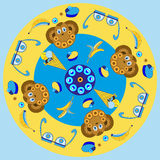 cartoons, characters, , monkey Stock Image