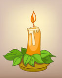 Cartoons Decoration Candle Stock Photography
