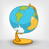Cartoons Decoration Globe Stock Photo
