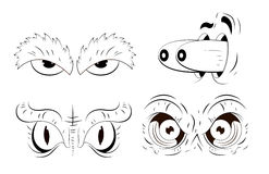 Cartoons Eyes Vectors Stock Photography