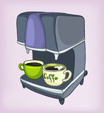 Cartoons Home Appliences Coffee Maker Royalty Free Stock Photography
