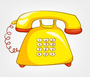 Cartoons Home Appliences Phone royalty free illustration