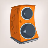 Cartoons Home Appliences Speaker Stock Image