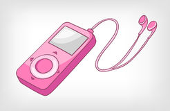 Cartoons Home Appliences Walkman royalty free illustration