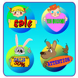 Cartoons icons. Merry cartoons icons for sale Royalty Free Stock Image