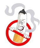 Cartoons No Smoking Sign Stock Images