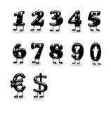 Cartoons numbers. Stock Photo