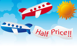 Cartoons planes Royalty Free Stock Images