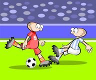 Cartoons Soccer players Royalty Free Stock Image