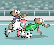 Cartoons Soccer players Royalty Free Stock Photo