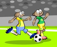 Cartoons Soccer players Royalty Free Stock Images