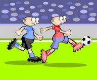 Cartoons Soccer players Stock Photography