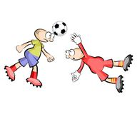 Cartoons Soccer players isolated over white Royalty Free Stock Photo
