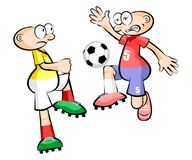 Cartoons Soccer players isolated over white Royalty Free Stock Photography